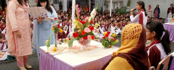 Floral Decoration Competition at Prep Girls North Nazimabad