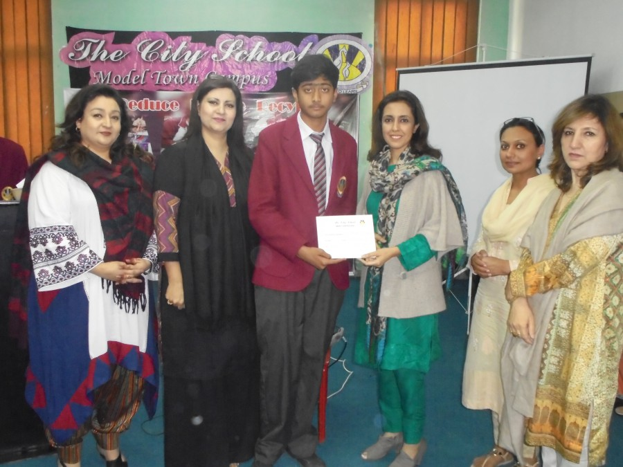 the city school lahore celebrated recycling week the